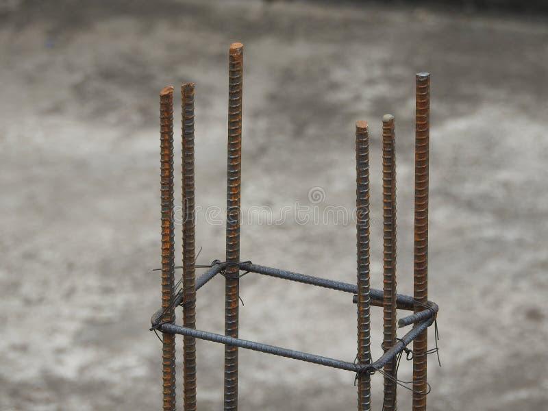 Barres de fer en acier utilisées dans la construction photographie stock