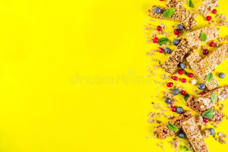 Barres de granola de c?r?ale photographie stock