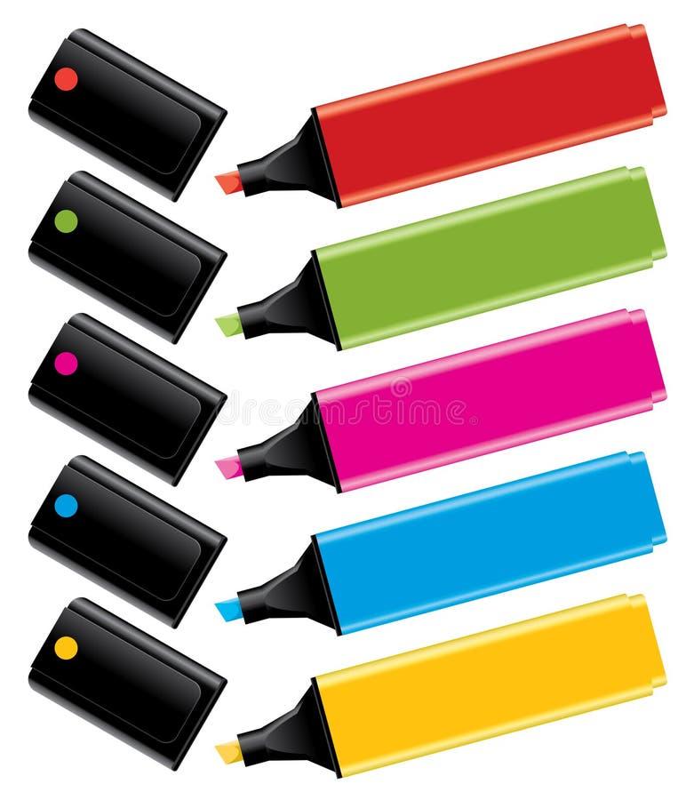 Barres de mise en valeur colorées illustration de vecteur