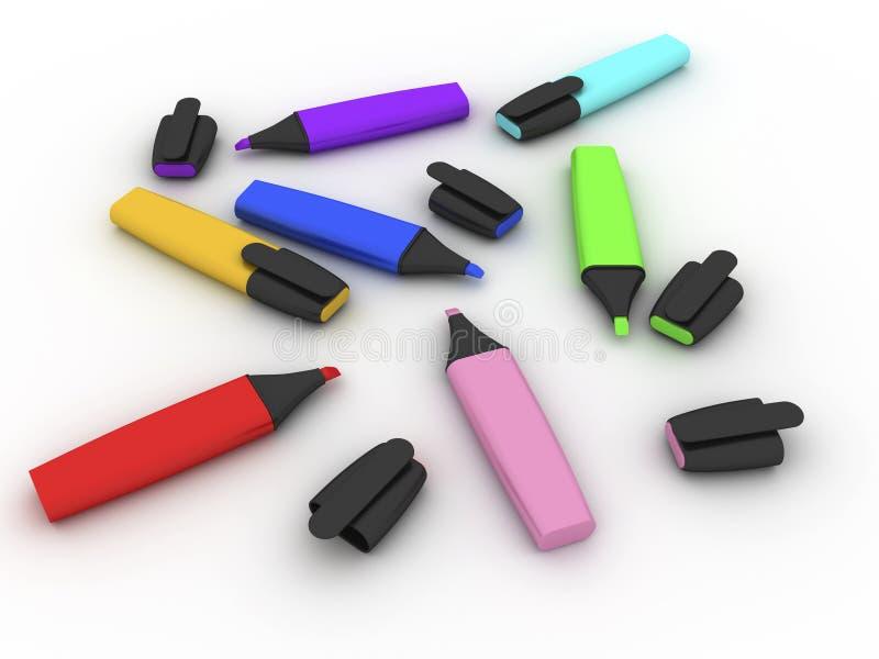 Barres de mise en valeur multicolores illustration libre de droits