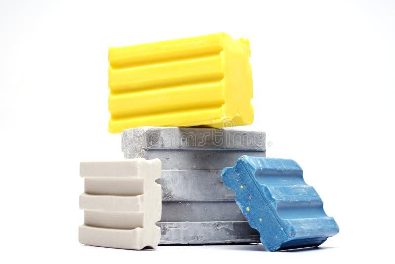 Barres de savon détergent photo stock