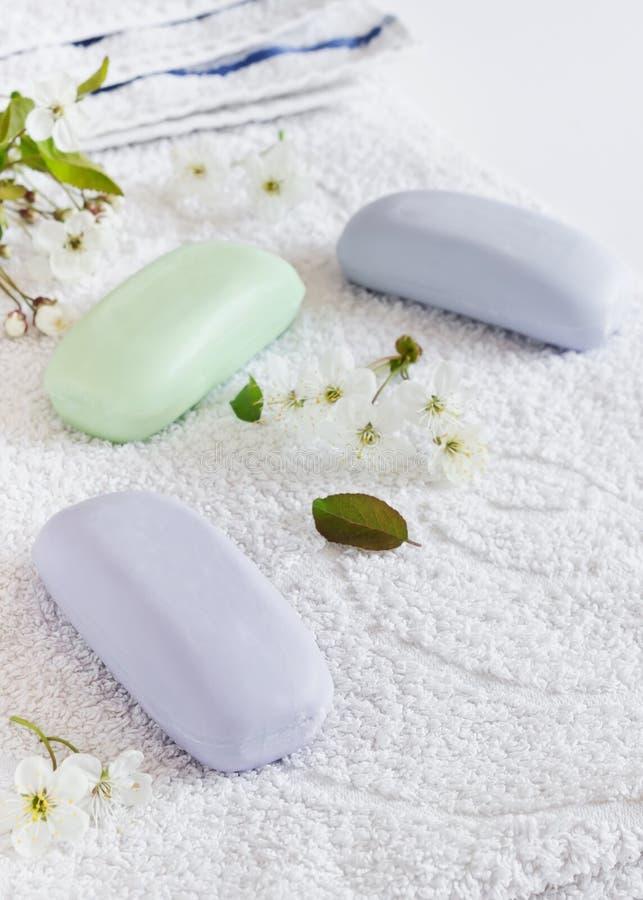 Barres de savon de glycérine photographie stock libre de droits