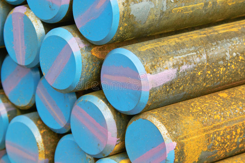 Barres en acier photographie stock
