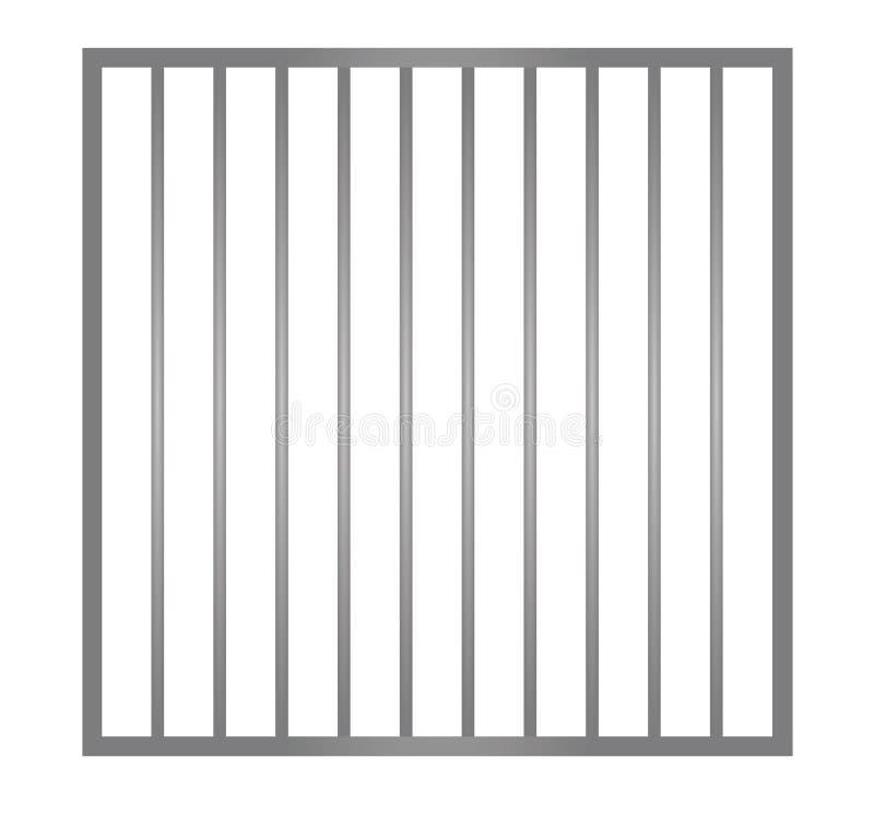 Barres en métal de cage illustration de vecteur