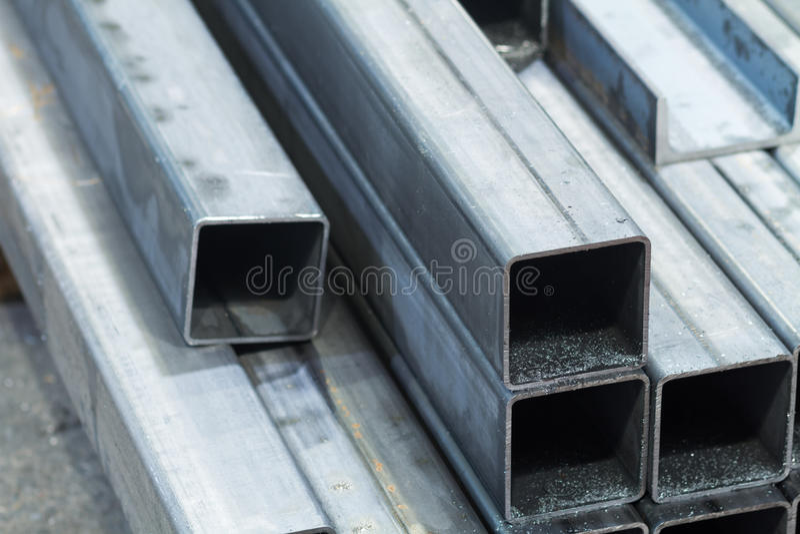 Barres faites d'acier au carbone photo libre de droits