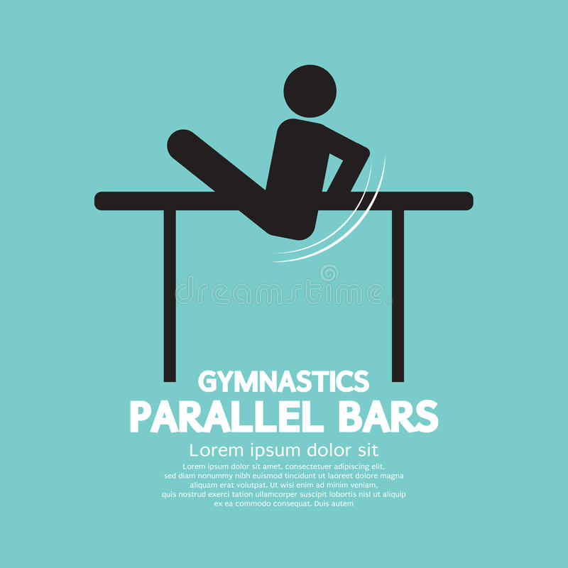 Barres parallèles de gymnastique illustration stock