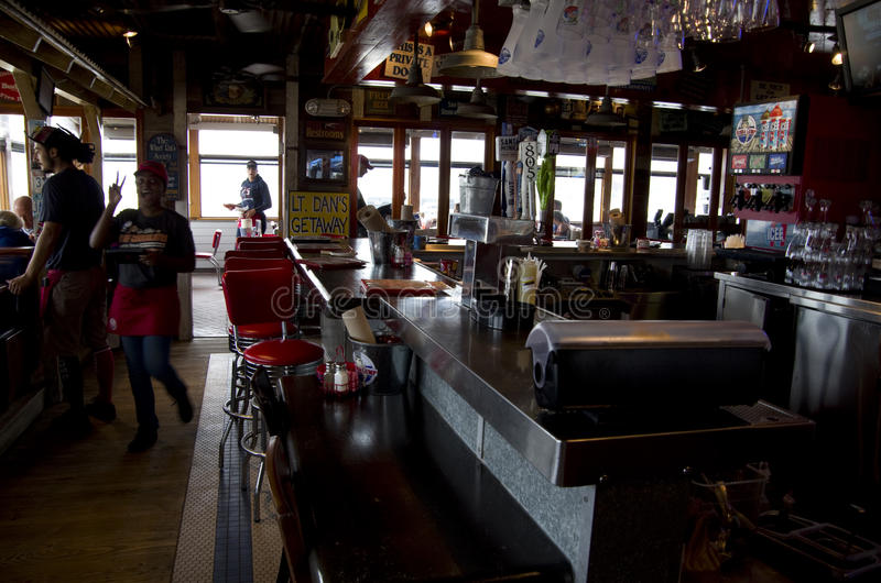 Barrestaurant in Santa Monica Beach royalty-vrije stock fotografie