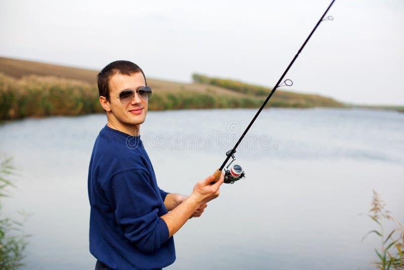 Barretta della colata del pescatore immagine stock libera da diritti