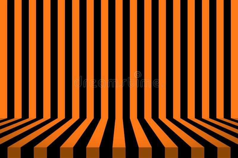 Barrez la pièce dans la conception noire et orange pour le fond de carte de Halloween illustration de vecteur