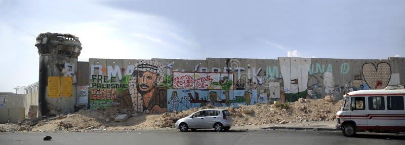 barriär palestine arkivfoto