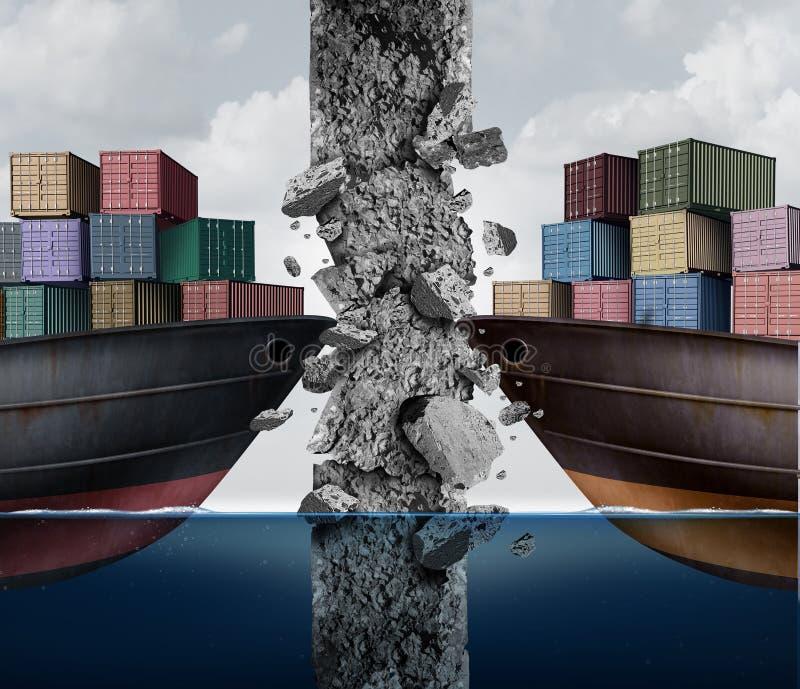 Barriär till handel stock illustrationer