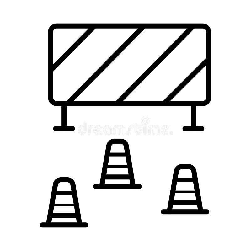 Barriärsymbolsvektor vektor illustrationer