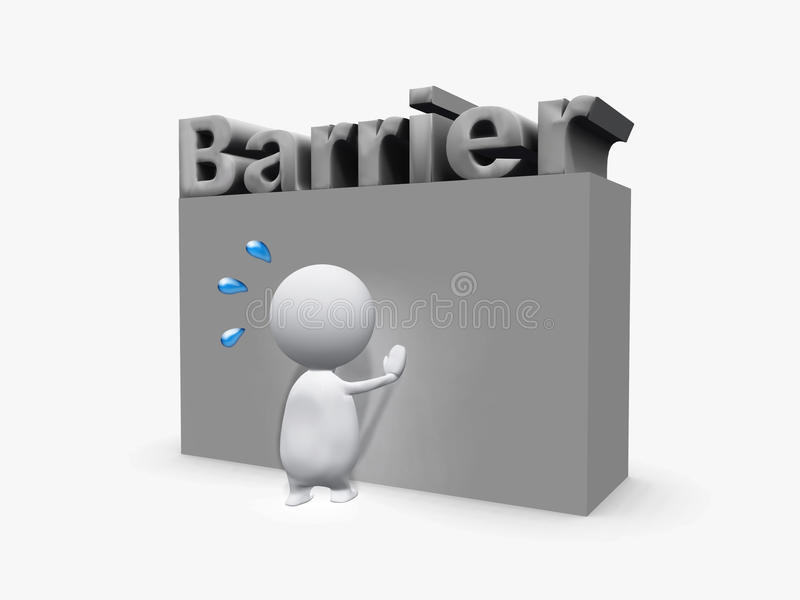 Barrière royalty-vrije stock afbeelding