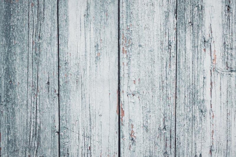 Barrière criquée peinte en bois grise et blanche Vieux fond en bois de texture Vintage, r?tro style Contexte léger de planches de images stock