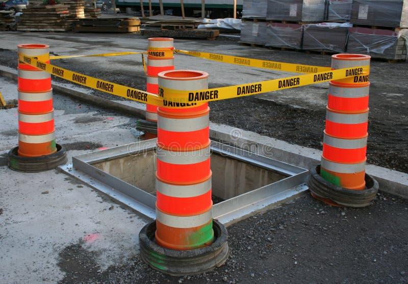 Barrière de bande de danger photo stock