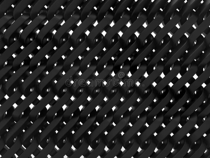 Barrière de chainlink dense en métal illustration libre de droits