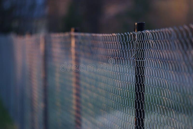 Barrière de fabrication en métal de fil photo libre de droits