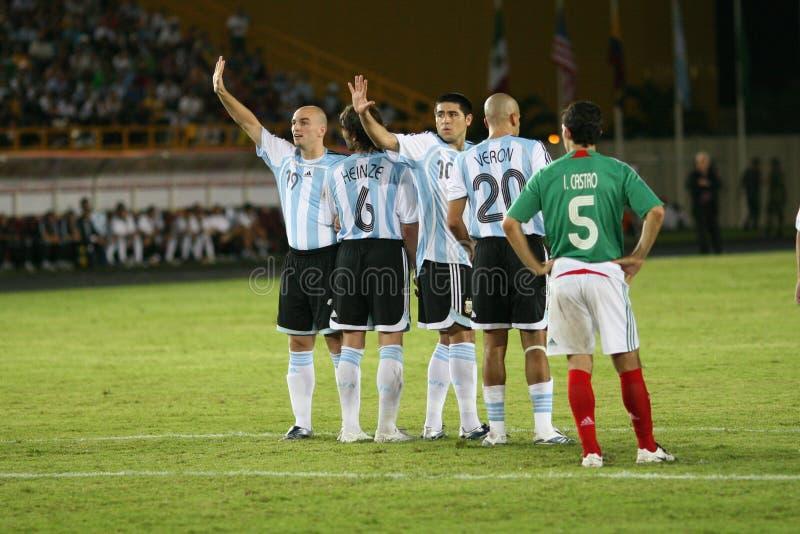 Barrière de l'Argentine photo stock