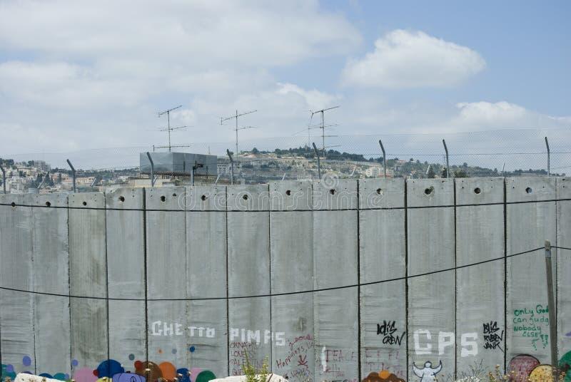 Barrière de la Palestine photo stock