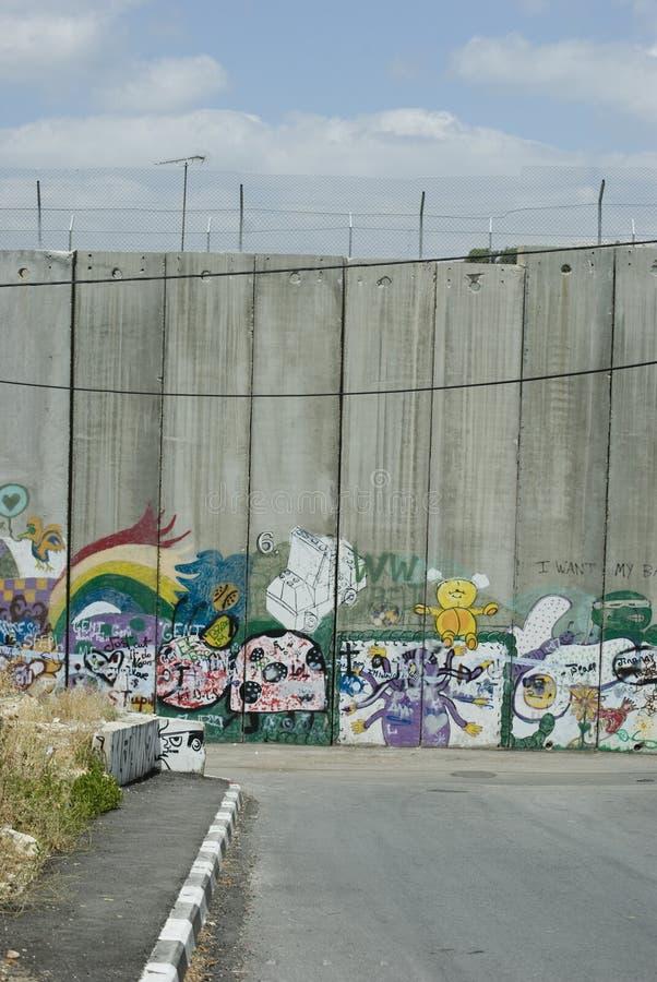 Barrière de la Palestine photographie stock libre de droits