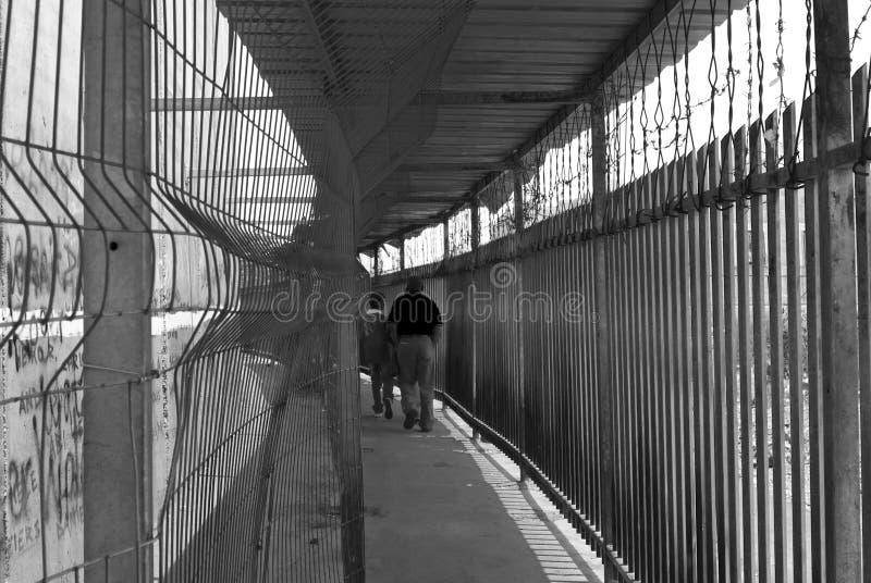 Barrière de la Palestine - point de contrôle dans Betlehem image stock
