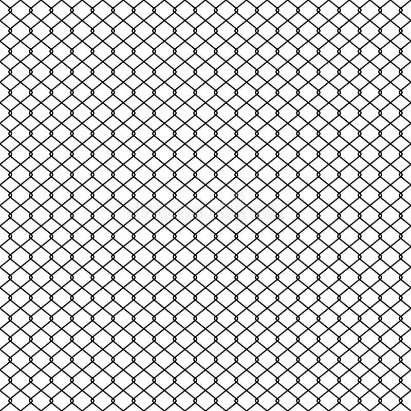Barrière de maillon de chaîne, texture de grillage de tresse, vecteur sans couture de modèle illustration stock