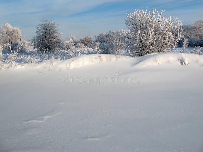 Barrière de neige photographie stock