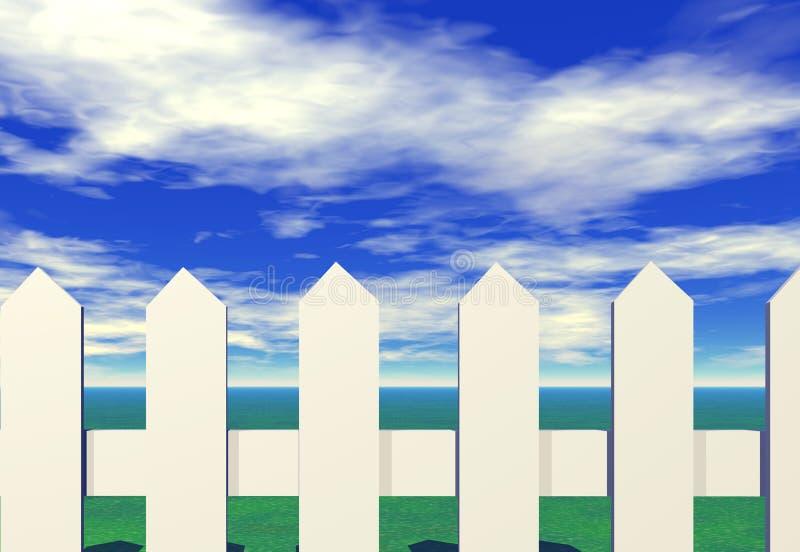 Barrière de piquet illustration stock
