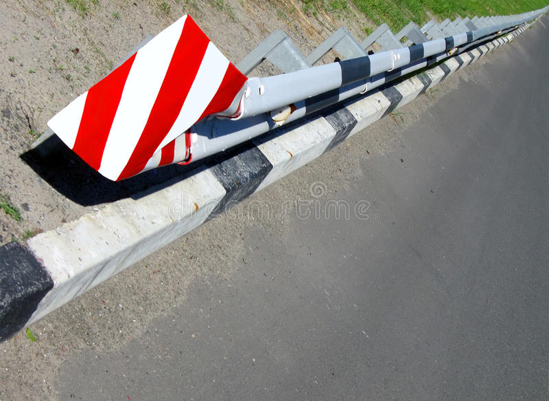 Barrière de route de transport de garantie photo stock