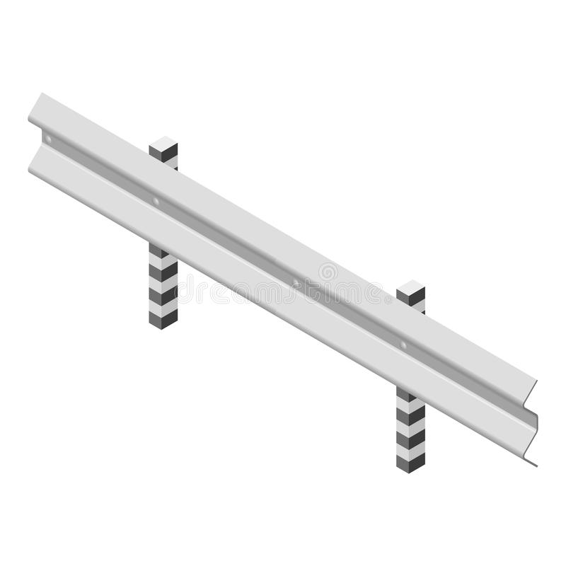 Barrière de route en métal isométrique, illustration de vecteur illustration de vecteur
