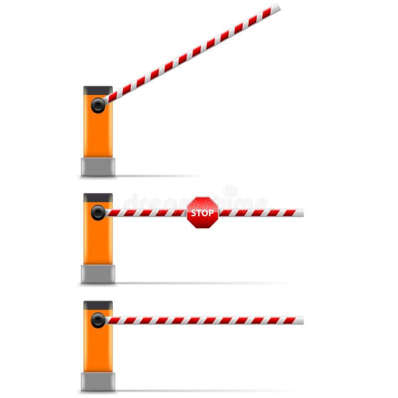 Barrière de rue d'isolement sur le vecteur blanc illustration libre de droits