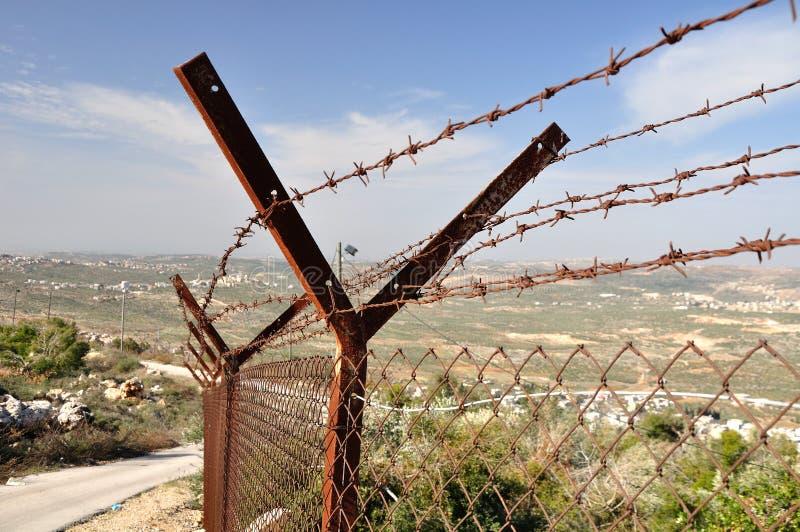 Barrière de sécurité. photos stock