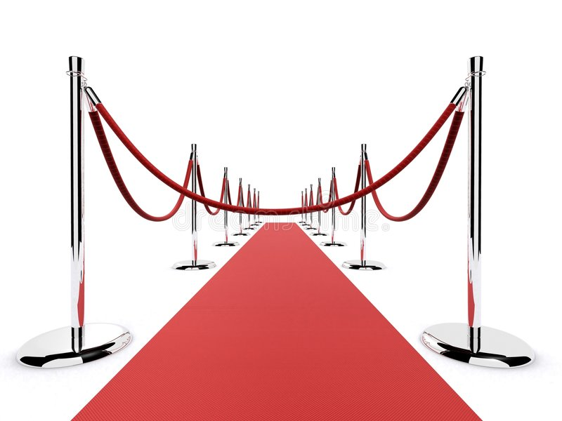 Barrière de tapis rouge illustration stock