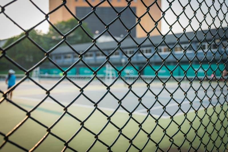 Barrière des courts de tennis image stock