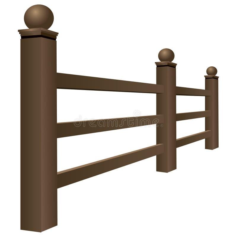 Barrière en bois illustration libre de droits