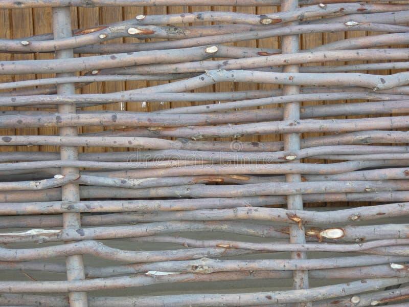Barrière en bois d'acacia images stock