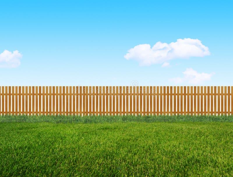 Barrière en bois de jardin photo stock