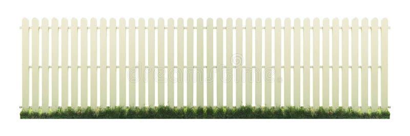Barrière en bois Isolated sur le fond blanc avec le chemin de coupage image stock