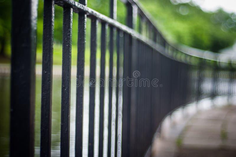 Barrière en métal photos stock