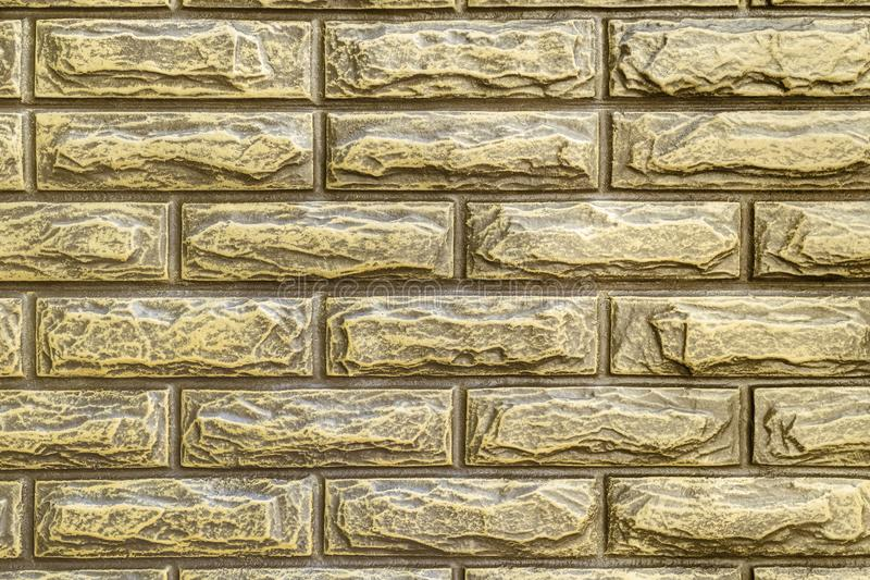 Barrière faite de briques artificielles photo libre de droits