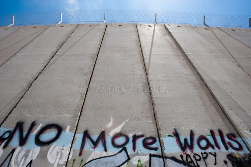 Barrière israélienne de séparation image libre de droits