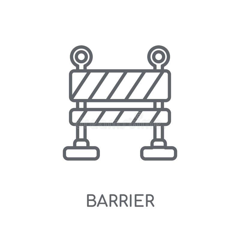 Barrière lineair pictogram Modern het embleemconcept van de overzichtsbarrière op whit vector illustratie