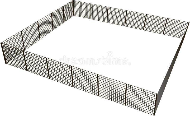 Barrière rectangulaire illustration de vecteur