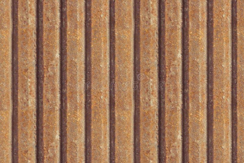 Barrière rouillée en métal, fond sans couture Texture rouillée en métal Fer, panneau sans couture en métal sale industriel extéri image libre de droits