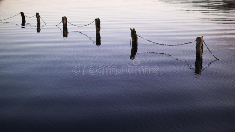 Barrière submergée 2 photo libre de droits