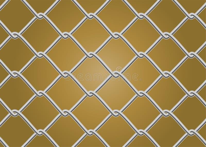 Barrière Vector de maillon de chaîne illustration stock