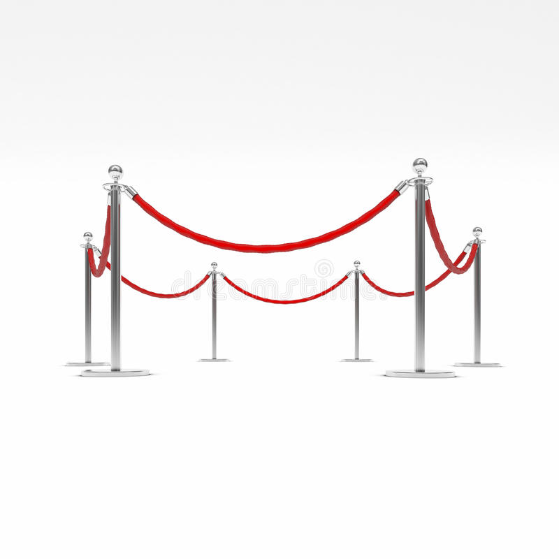 Barrièrekabel royalty-vrije illustratie