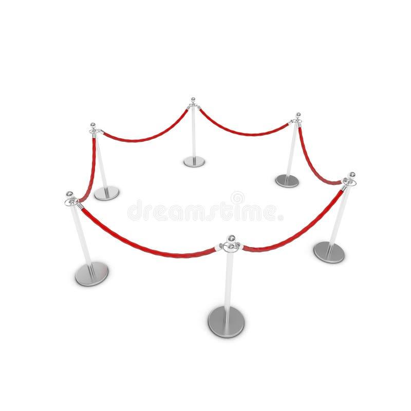 Barrièrekabel vector illustratie