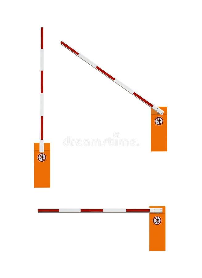 Barrières stock illustratie