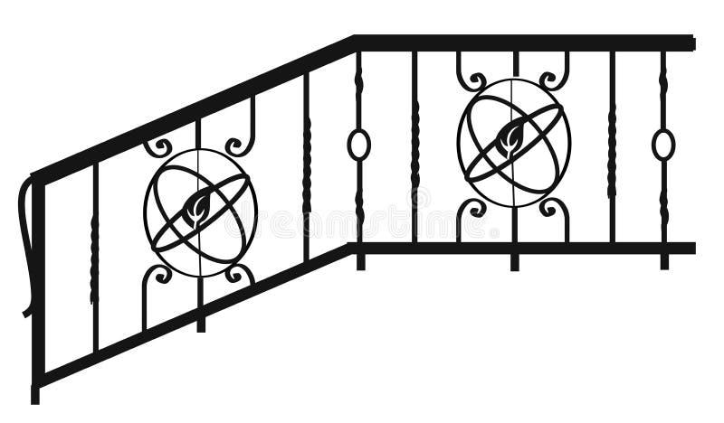 Barrières, balustrades et grilles Articles et produits forgés pour la conception à la maison d'intérieur et de paysage illustration de vecteur